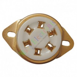 6pin Gold Ceramic vacuum tube sockets valve Fr 310 366 audio amps radio DIY