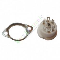 6pin Ceramic vacuum tube sockets valve HIFI audio amplifier DIY radio parts