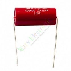 MKP 400V 1.5uf Red long copper leads Axial Electrolytic Capacitor audio amp