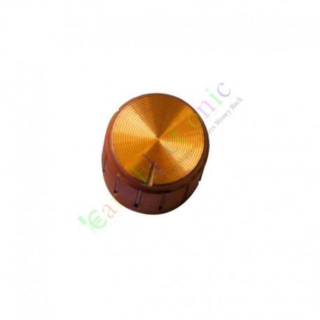 15mm Pedal Top skirted Gold knob Guitar tube Amp JAZZ BASS audio DIY parts