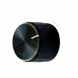 23mm Pedal Top skirted Black knob Guitar tube Amp JAZZ BASS audio DIY parts