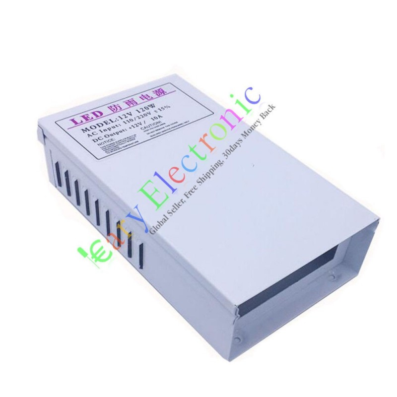 12V 10A 120W AC/DC Driver Switch Power Supply Adapter