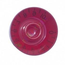 25mm Pedal Top skirted Red knob Guitar tube Amp Volume Tone audio radio DIY