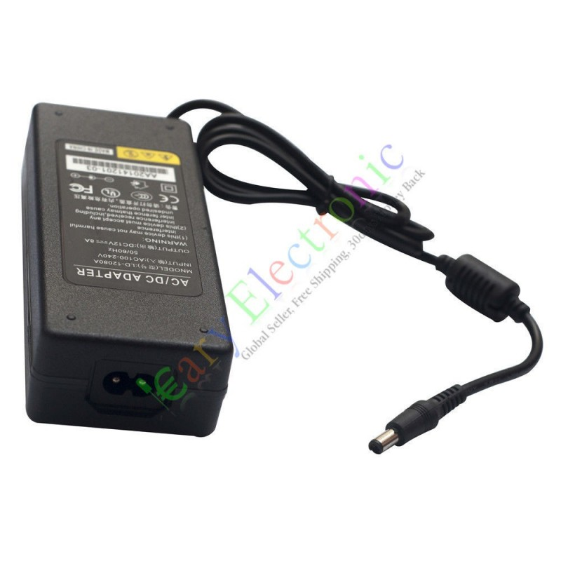 12V 8A 96W AC/DC Adapter Power Supply Charger Switch