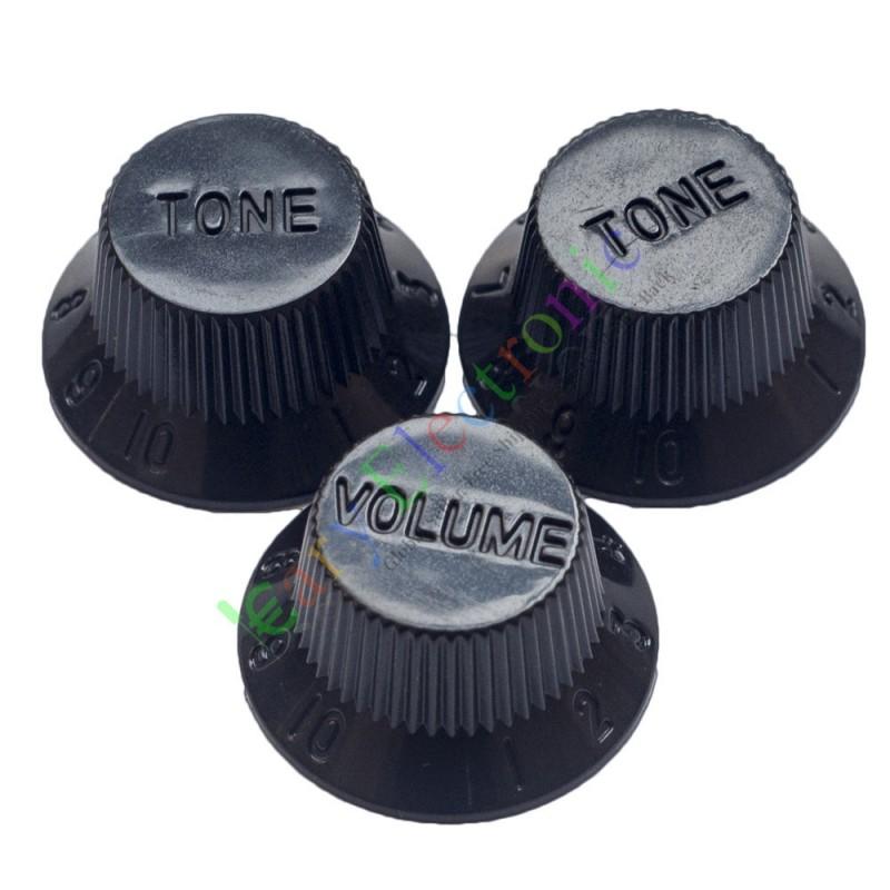 99set 26mm black knob guitar tube potentiometer cap volume tone audio parts amp. Black Bedroom Furniture Sets. Home Design Ideas