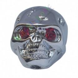 26mm Silver Skull Head Knob Volume Tone Guitar Control Knob For Gibson LP