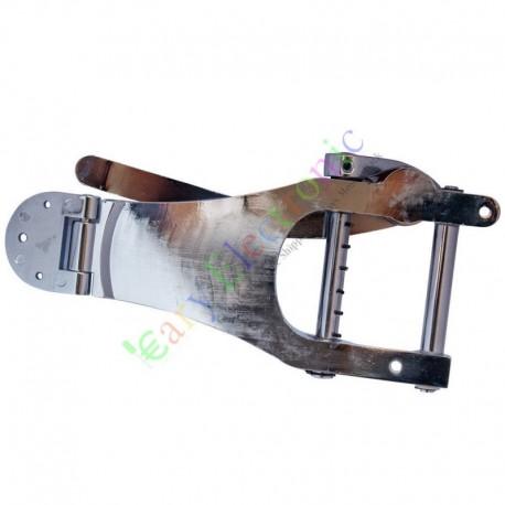Silver Tremolo Vibrato Bridge Tailpiece For Tele LP Electric Guitar Chorme