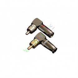 Gold Plated Copper RCA/AV Plug Screw Locking tube Audio HIFI Connector amp